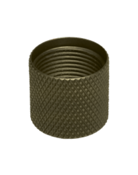 Seekins Precision 1/2 x 28 Aluminum Thread Protector - Olive Drab Green